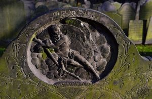Father Time. From a headstone in a church yard in Leicester, England.